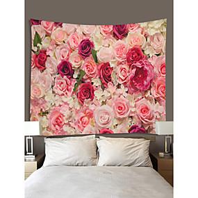 halpa Seinämaalaukset-Puutarha-teema / Kukkais-teema Wall Decor 100% polyesteri Klassinen / Moderni Wall Art, Seinävaatteet Koriste