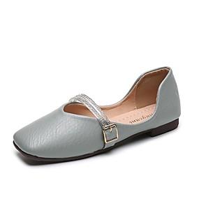 povoljno Udobne cipele-Žene Ravne cipele Ravna potpetica PU Ljeto Zelen / Bijela / Bež