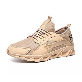 baratos Sapatos Esportivos Masculinos-Homens Sapatos Confortáveis Tecido elástico Outono & inverno Esportivo Tênis Respirável Preto / Branco / Khaki