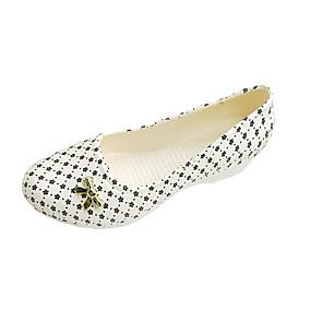 voordelige Damesschoenen met platte hak-Dames Platte schoenen Sleehak Ronde Teen Strik PVC Informeel Zomer Zwart / Rood / Blauw