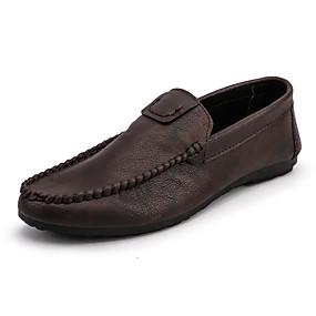baratos Sapatilhas e Mocassins Masculinos-Homens Sapatos Confortáveis Microfibra Verão Negócio / Casual Mocassins e Slip-Ons Caminhada Respirável Preto / Marron / Vermelho