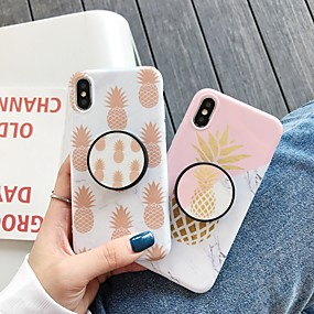 billige iPhone-etuier-CISIC Etui Til Apple iPhone XR / iPhone XS Max Stødsikker / Støvsikker / Vandafvisende Fuldt etui Mad / Marmor Hårdt TPU / silica Gel for iPhone XS / iPhone XR / iPhone XS Max