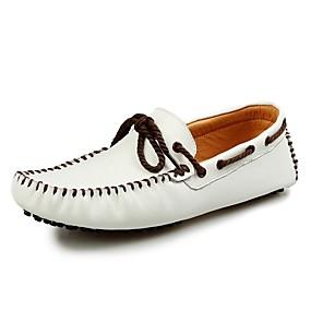 baratos Sapatos Náuticos Masculinos-Homens Sapatos de couro Pele Primavera Verão / Outono & inverno Clássico / Casual Sapatos de Barco Caminhada Não escorregar Branco / Preto / Amarelo