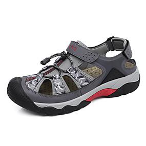 baratos Sandálias Masculinas-Homens Sapatos Confortáveis Com Transparência Verão Clássico / Casual Sandálias Caminhada Respirável Côr Camuflagem Preto / Verde / Cinzento