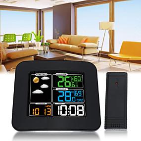 povoljno Újdonságok-ts-75 LCD digitalni ulazni / vanjski automobil temperatura vlažnost barometar bežični meteorološka stanica boja alarm budilice vremenska prognoza