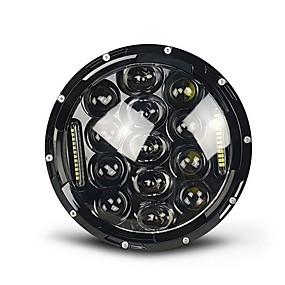 abordables Nouvelles arrivées en août-projecteur 7 pouces 75w led daymaker phare de moto noir harley street glide softail flhx fld (convient  harley-davidson)