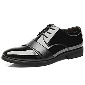 baratos Oxfords Masculinos-Homens Sapatos formais Sintéticos Primavera / Outono Oxfords Não escorregar Preto / Marron
