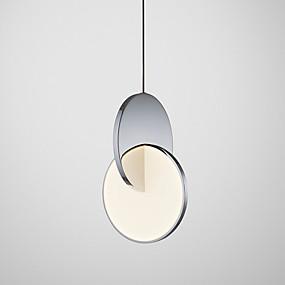 abordables Plafonniers-Géométrique Lampe suspendue Lumière d'ambiance Chrome Plaqué Métal 110-120V / 220-240V