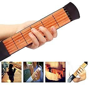 halpa Soitintarvikkeet-ammattilainen Pocket Guitar / Guitar Trainer Tool 38 Inch 6 Strings Puu Kannettava / aloittelijalle Musical Instrument Varusteet