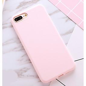 billige Telefoner og tilbehør-Etui Til Apple iPhone X / iPhone 8 Plus / iPhone 8 Støtsikker / Støvtett Bakdeksel Ensfarget Myk TPU