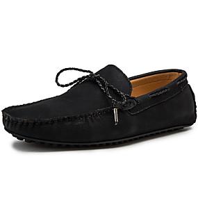 baratos Sapatos Náuticos Masculinos-Homens Mocassim Sintéticos Primavera / Outono Sapatos de Barco Preto / Bege