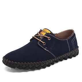 baratos Oxfords Masculinos-Homens Sapatos Confortáveis Camurça Primavera / Outono Negócio / Formais Oxfords Caminhada Não escorregar Vinho / Marron / Azul Escuro