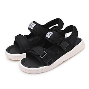 baratos Sandálias Masculinas-Homens Sapatos Confortáveis Com Transparência Verão Clássico / Casual Sandálias Caminhada Respirável Preto / Azul