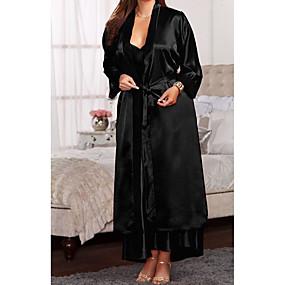 hesapli Sabahlıklar-Kadın's Etekler - Solid Dantel Beyaz Siyah Fuşya XL XXL XXXL / Sexy