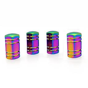 cheap Automotive Exterior Accessories-4 Pcs Colorful Hexagonal Car Tire Valve Stem Cap Cover Auto Accessories