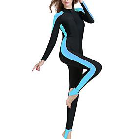 billige Sport og friluftsliv-SBART Dame Tettsittende dykkerdrakt 2mm Dykkerdrakter SPF50 UV Solbeskyttelse Fort Tørring Langermet Forside Glidelås - Svømming Dykking Surfing Lapper