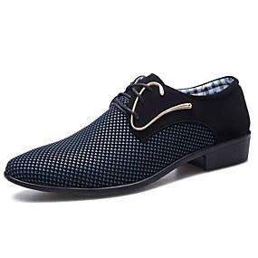 baratos Oxfords Masculinos-Homens Sapatos formais Couro Ecológico Primavera Verão / Outono & inverno Oxfords Branco / Azul / Casamento