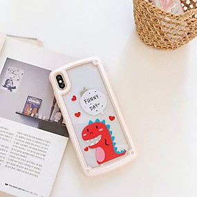 cheap Cool & Fashion Cases for iPhone-Case For Apple iPhone XS / iPhone XR / iPhone XS Max Shockproof / Pattern Back Cover Word / Phrase / Animal / Cartoon TPU