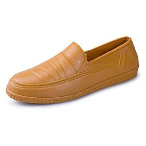 baratos Sapatilhas e Mocassins Masculinos-Homens Sapatos Confortáveis Couro Ecológico Verão Casual Mocassins e Slip-Ons Caminhada Respirável Branco / Amarelo / Ao ar livre