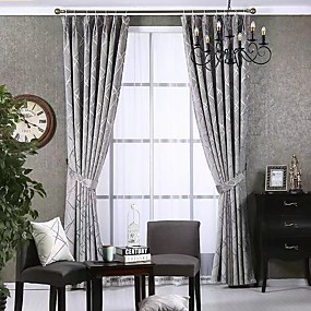 cheap Curtains & Drapes-Modern Privacy Two Panels Curtain Bedroom   Curtains