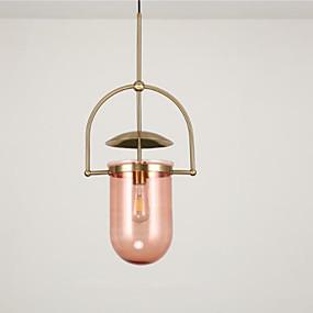 abordables Plafonniers-Nouveauté Lampe suspendue Lumière d'ambiance Plaqué Métal Verre Design nouveau 110-120V / 220-240V