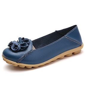 voordelige Damesschoenen met platte hak-Dames Platte schoenen Platte hak Ronde Teen Satijnen bloem PU Informeel / Chinoiserie Wandelen Lente & Herfst Zwart / Wit / Geel