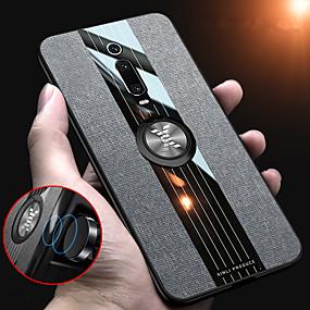 hesapli Cep Telefonu Kılıfları-Kumaş manyetik halka tutucu yumuşak çerçeve bez kılıf xiaomi mi 9 t pro mi 9 t redmi k20 pro k20 silikon tpu kenar