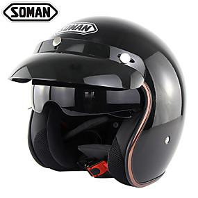 billige Nyankomne i august-motorsykkelhjelm med innervisir retro vintage motorsykkelhjelm motocross sykkelhjelm soman sm510