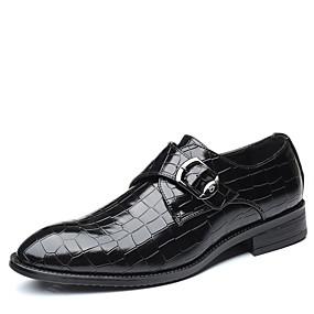 baratos Oxfords Masculinos-Homens Sapatos de couro Couro Inverno / Outono & inverno Negócio / Casual Oxfords Caminhada Respirável Preto / Marron / Azul