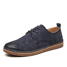 baratos Oxfords Masculinos-Homens Sapatos formais Couro Ecológico Primavera Verão / Outono & inverno Oxfords Preto / Azul Escuro / Cinzento