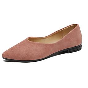 voordelige Damesschoenen met platte hak-Dames Platte schoenen Lage hak Gepuntte Teen Microvezel Lente & Herfst Zwart / Wit / Roze