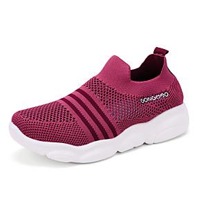 voordelige Damessneakers-Dames Sneakers Platte hak Ronde Teen Tissage Volant Informeel Lente zomer Fuchsia / Roze / Grijs