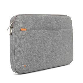 hesapli Çantalar, Kollu ve Kılıflar-13.3 14 15.6 su geçirmez naylon düz renk şok geçirmez laptop kapak kollu shakeproof durumda yüzey / macbook / hp / dell / samsung / sony vb gri