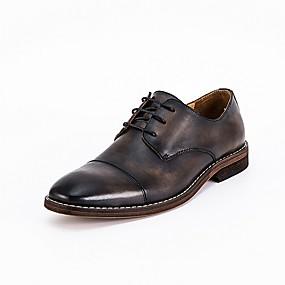 baratos Oxfords Masculinos-Homens Sapatos formais Couro Verão Oxfords Preto / Marron