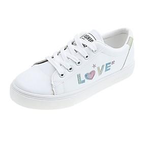 voordelige Damessneakers-Dames Sneakers Creepers Ronde Teen PU Lente & Herfst Zilver / Regenboog