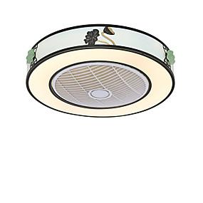 hesapli Tavan Fanları-QINGMING® Dairesel / Mini Tavan pervanesi Ortam Işığı Boyalı kaplamalar Metal Mini Tarzı, Üç renkli 110-120V / 220-240V Sıcak Beyaz + Beyaz