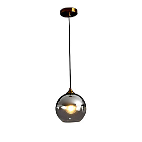 abordables Plafonniers-HEDUO Plafonnier pour Ilôt de Cuisine Lampe suspendue Lumière dirigée vers le bas Finitions Peintes Verre Verre Protection des Yeux, Montage du flux 110-120V / 220-240V