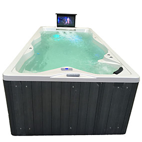 cheap Bathtub-Outdoor spa tub whirlpool Massage bathtubs 4 people Freestanding Jacuzzi