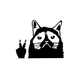abordables Nouvelles arrivées en septembre-décoration autocollant réfléchissant drôle de voiture de chat grincheux