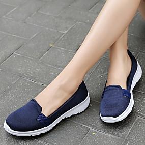voordelige Damesschoenen met platte hak-Dames Platte schoenen Platte hak Ronde Teen Netstof Zomer Zwart / Roze / Donkerblauw