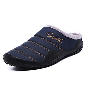 baratos Sandálias e Chinelos Masculinos-Homens Sapatos Confortáveis Couro Ecológico Inverno Casual Chinelos e flip-flops Caminhada Manter Quente Preto / Azul Escuro