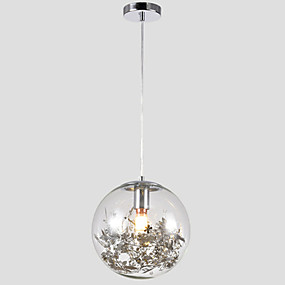 billige Hengelamper-led sirkel pendellampe / glass i taklampe elektroplatert metall kreativ justerbar 110-120v / 220v-240v / e26 / e27