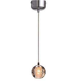 billige Hengelamper-enkelt pendel lys krystall globus pendell lys omgivende lys elektroplettert metall