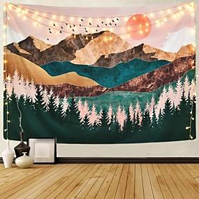 halpa Seinämaalaukset-Puutarha-teema / Bohemian Teema Wall Decor 100% polyesteri Moderni Wall Art, Seinävaatteet Koriste