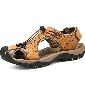 baratos Sandálias Masculinas-Homens Sapatos Confortáveis Sintéticos Verão Sandálias Preto / Amarelo / Azul