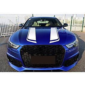 abordables 70%OFF-85cm noir racing sports autocollant bande universelle capot voiture vinyle autocollants autocollants de voiture-style