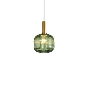 abordables Plafonniers-Cylindre Lampe suspendue Lumière d'ambiance Plaqué Finitions Peintes Métal Verre 110-120V / 220-240V