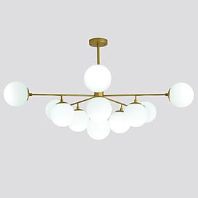 billige Takbelysning og vifter-ZHISHU Globe Lysekroner Omgivelseslys Malte Finishes Metall Glass LED, WIFI-kontroll 110-120V / 220-240V Varm Hvit / Hvit / Dimbar med fjernkontroll