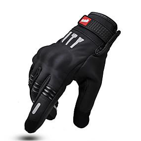 billige Nyankomne i august-motorsykkelhansker sommerhanske full finger motorsykkel skjerm touch for sykling racing vinter håndflate lufttett