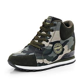 voordelige Damessneakers-Dames Sneakers Platte hak Ronde Teen Canvas Zomer Leger Groen / Camouflage Kleur